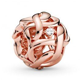 Pandora 788824C01 Rose Bead-Charm Verwobene Unendlichkeit