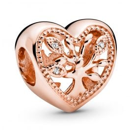 Pandora 788826C01 Rose Bead Charm Heart Family Tree