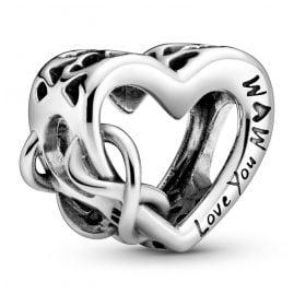 Pandora 798825C00 Silber Bead-Charm Love You Mum Unendlichkeits-Herz