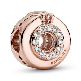 Pandora 789059C01 Rose Charm Offenes Pave Crown O
