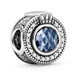 Pandora 799058C01 Charm Sparkling Blue Crown O Silver