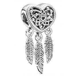 Pandora 799107C00 Silver Charm Dreamcatcher with 3 Feathers