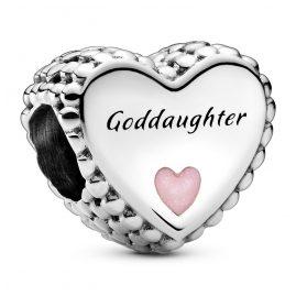 Pandora 799147C01 Silver Charm Heart Goddaughter