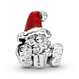 Pandora 799213C01 Charm Santa Claus with Present Silver