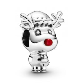 Pandora 799208C01 Charm Rudolph the Red Nose Reindeer Silver