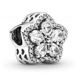 Pandora 799224C01 Charm Funkelnde Blume Pavé Silber