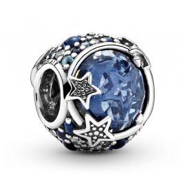 Pandora 799209C01 Charm Himmelsblaue Funkelnde Sterne Silber