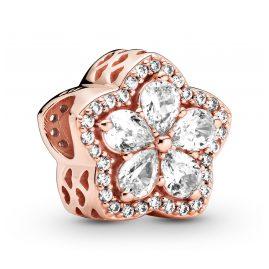 Pandora 789224C01 Rose Charm Sparkling Snowflake Pavé