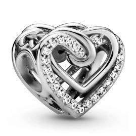 Pandora 799270C01 Silber Charm Funkelndes Verschlungenes Herz