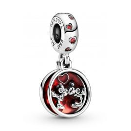 Pandora 799298C01 Silver Dangle Charm Mickey & Minnie Mouse Love and Kisses