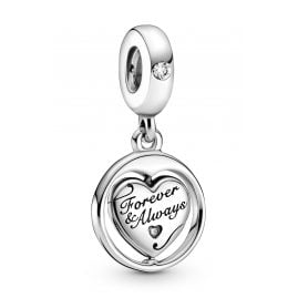 Pandora 799266C01 Silver Dangle Charm Forever & Always Soulmate