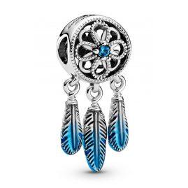 Pandora 799341C01 Silber Charm Blauer Traumfänger Limited Edition