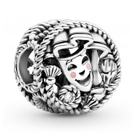 Pandora 799331C01 Silver Charm Theatre Mask Comedy and Tragedy