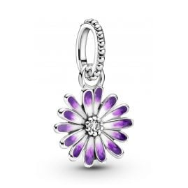 Pandora 798771C01 Silver Dangle Charm Purple Daisy