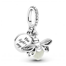 Pandora 799352C01 Silver Dangle Charm Glowing Firefly