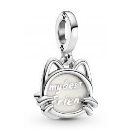 Pandora 799329C01 Silber Charm-Anhänger Mein Haustier Katze