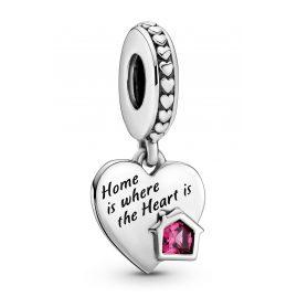 Pandora 799324C01 Silber Charm-Anhänger Love my Home Herz