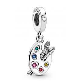 Pandora 799320C01 Silver Dangle Charm Artist's Palette