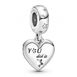 Pandora 799323C01 Silber Charm-Anhänger Gratulation Herz und Sterne