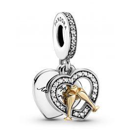 Pandora 799322C01 Silber Charm-Anhänger Zweifarbiger Glücklicher Jahrestag