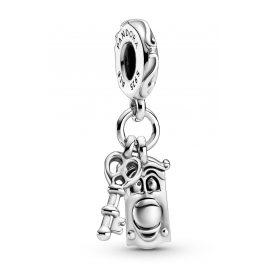 Pandora 799344C00 Charm-Anhänger Alice im Wunderland Schlüssel und Türknauf