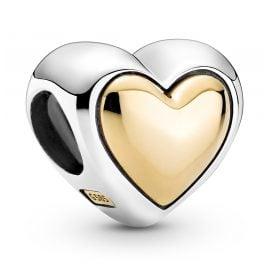 Pandora 799415C00 Silber Charm Gewölbtes Goldherz