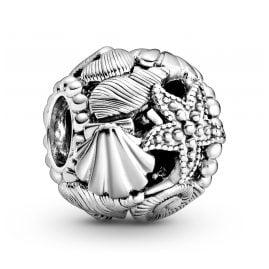 Pandora 798950C00 Silber Charm Offen Seestern, Muscheln und Herzen