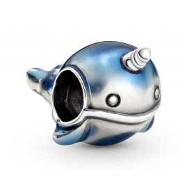 Pandora 798965C01 Silver Charm Shimmering Narwhal