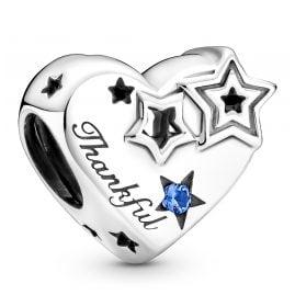 Pandora 799527C01 Silver Charm Thankful Heart & Stars