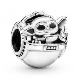 Pandora 799511C01 Silber Charm Grogu & Crib Star Wars