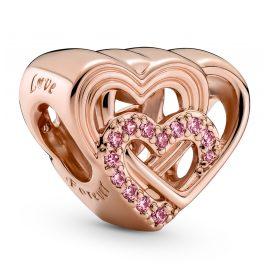 Pandora 789529C01 Charm Intertwined Love Hearts