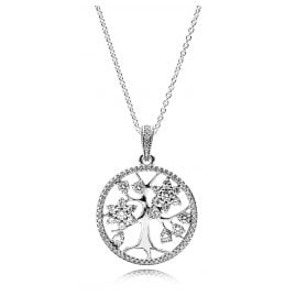 Pandora 390384CZ-80 Ladies Necklace Tree of Life