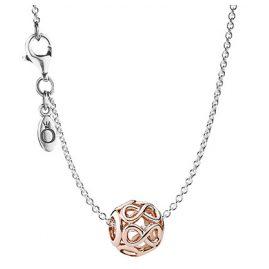 Pandora 08340 Silber-Halskette mit Anhänger Unendlichkeit Rosé