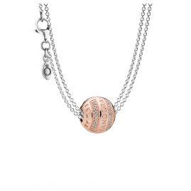 Pandora 08590 Halskette mit Charm-Anhänger Logo Herzen