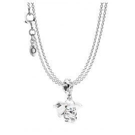 Pandora 75248 Anhänger Dumbo mit 2-reihiger Halskette Silber 925