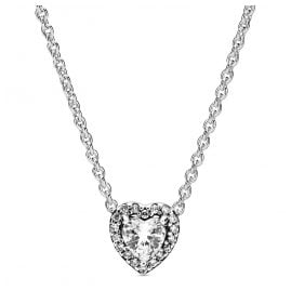 Pandora 398425C01-45 Ladies' Necklace Elevated Heart