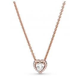 Pandora 388425C01-45 Rose Damen-Halskette Funkelndes Herz
