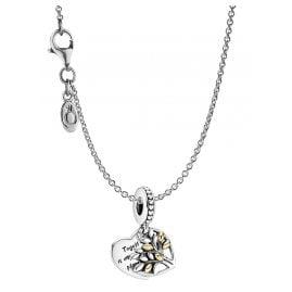 Pandora 39658 Damen-Halskette Familienbaum Silber