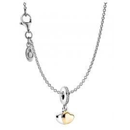Pandora 39659 Damen-Kette Doppelherz Silber