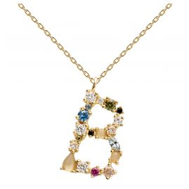 P D Paola CO01-103-U Women's Necklace Letter B