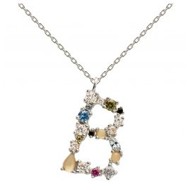 P D Paola CO02-106-U Women's Necklace Letter B Silver