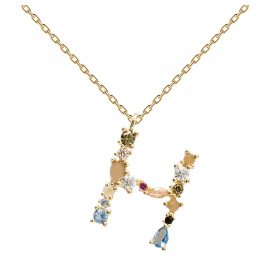 P D Paola CO01-103-U Women's Necklace Letter H