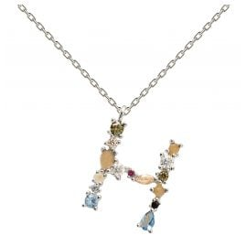 P D Paola CO02-103-U Women's Necklace Letter H Silver