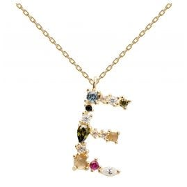 P D Paola CO01-100-U Women's Necklace Letter E