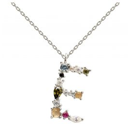 P D Paola CO02-100-U Women's Necklace Letter E Silver
