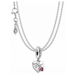 Pandora 39807 Ladies' Necklace Love my Home Heart Silver