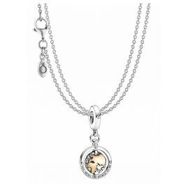 Pandora 39814 Halskette für Damen Kreiselnde Welt Silber
