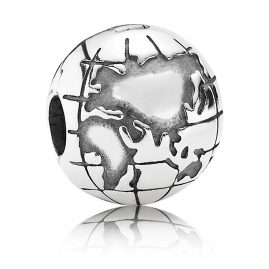 Pandora 791182 Silver Clip Stopper Globe