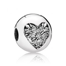 Pandora 796388CZ Clip-Element Winter-Herz