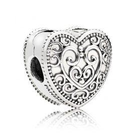Pandora 797024 Clip-Element Bezauberndes Herz